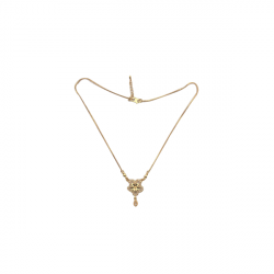 Womens Hot Fashion Link Chain Neckless Golden A
