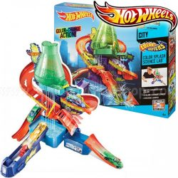 Hot Wheels City Color Shifters Science Lab Playset A