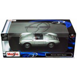 Maisto Porsche 550 A Spyder Silver Diecast Car Model A