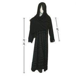 Self Print Abaya With Scarf A