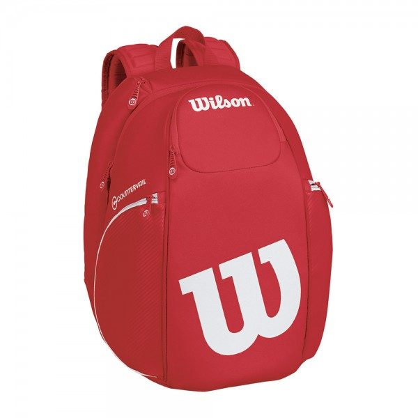 Wilson Pro Staff Backpack Red and White a