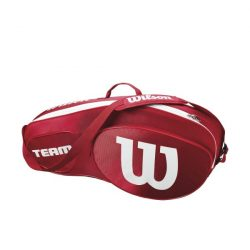 Wilson Team III 3 Racket Bag Red White
