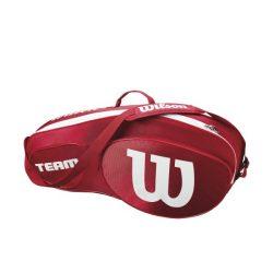 Wilson Team III 3 Racket Bag Red White