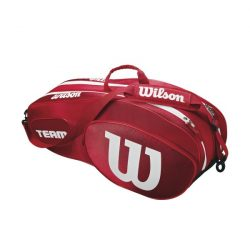 Wilson Team III 6 Racket Bag Red White