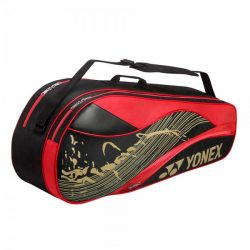 Yonex 6 Racket Bag Black Red