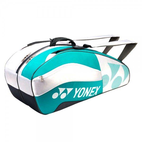 Yonex 6 Racket Bag White Aqua