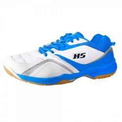 HS 27 Badminton Shoes Blue and White a