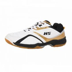 HS 27 Badminton Shoes Gold AND White A