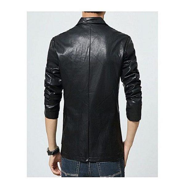 Men Slim Fit PU Leather Coat MCB 2