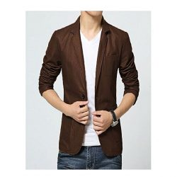 Men Slim Fit PU Leather Coat MCC 1