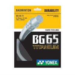 Yonex BG65 TI Titanium Badminton Racket String