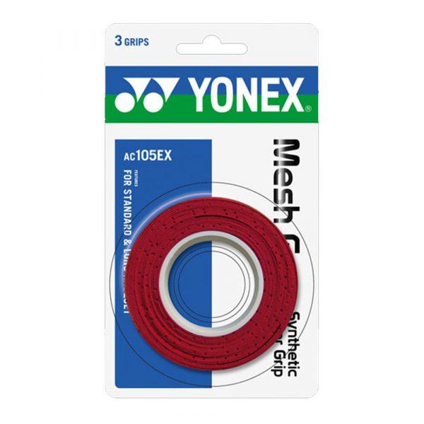 Yonex Mesh Grap Red 3 Wraps a