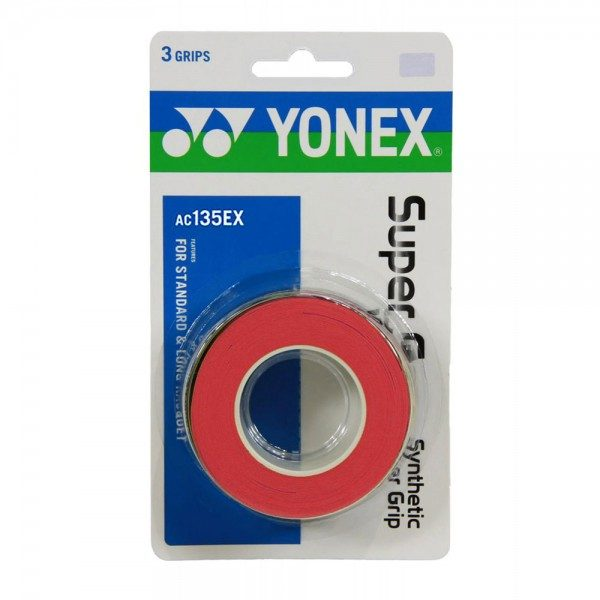 Yonex Strong Grap Overgrip Red 3 Wraps