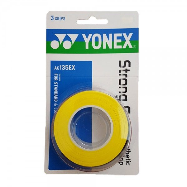 Yonex Strong Grap Overgrip Yellow 3 Wraps