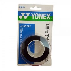 Yonex Ultra Thin Grap Overgrip Black 3 Wraps a