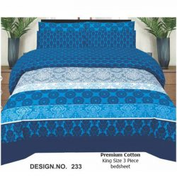 Hangree Premium Cotton Bed Sheet Design No