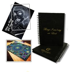 Buy Black Paper notebook for art online pakistan from thestationers