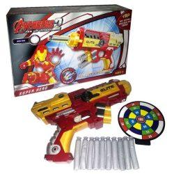 seru mainan pistol blaster nerf soft bullet ironman sb