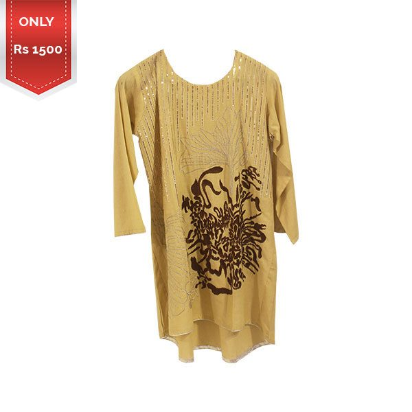 Designer Stitched Embroidered Lawn Kurti for girls a