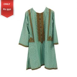 Latest Elegant Embroidered Lawn shirt a