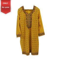 Latest Embroidered Lawn Kurti for Girls a