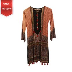 Printed Lawn Kurti for Girls a