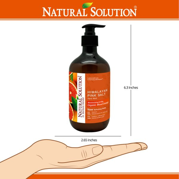 hand soap with blood orange