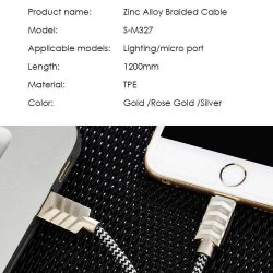 Joyroom Zinc Alloy Braided Cable meterMicro S M specs