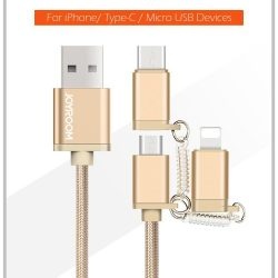 joyroom S M M in Nylon Fast Data Sync and Fast Charging Cable Micro USB Lighning Type C specs