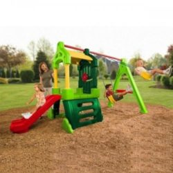 Little Tikes Clubhouse Swingset Natural Color A