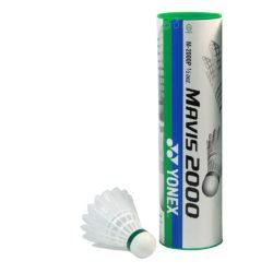 Yonex Mavis White Shuttlecocks Green Cap Piece Pack a