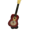 Guitar Table Clock Red