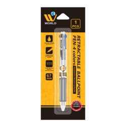 W World Retractable Ball Point – 4 Colors | Ultra Slim Design With Comfortable Grip