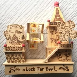 Wooden House Toy With Swing